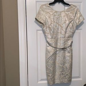 Cream & Silver Forever 21 Dress